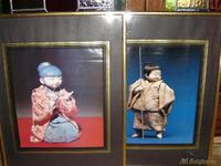 3 Cuadros figuras chinas