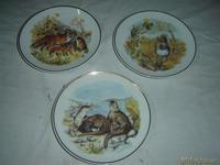 3 platos decoracion animales