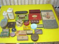 25 latas y cajitas antiguas