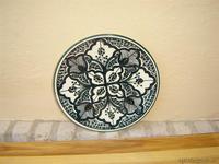 Plato de ceramica relieve en verde