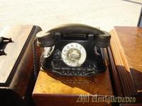 Telefono antiguo negro,rectangular