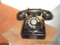 Telefono cuadrado,hierro negro