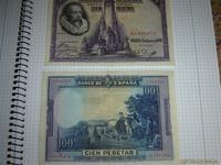 2 billetes 100pts antiguos