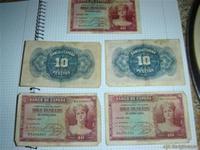 5 billetes viejos de 5pts