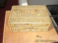 Caja labrada.madera
