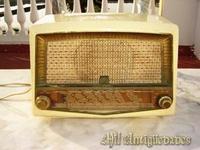 Radio de Baquelita blanco
