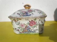 Bombonera de porcelana oriental