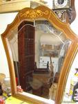 Espejo de madera y marqueteria
