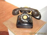 Telefono  de hierro negro,cuaderado