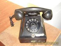 Telefono antiguo de baquelita,negro