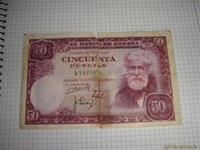 1 billetes de 50pts